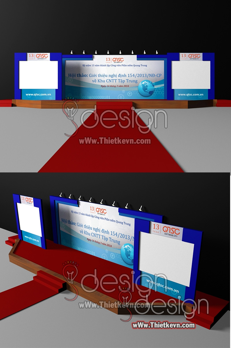 GMIT.4039au Thiết kế sân khấu hội nghị, sân khấu sự kiện giá rẻ