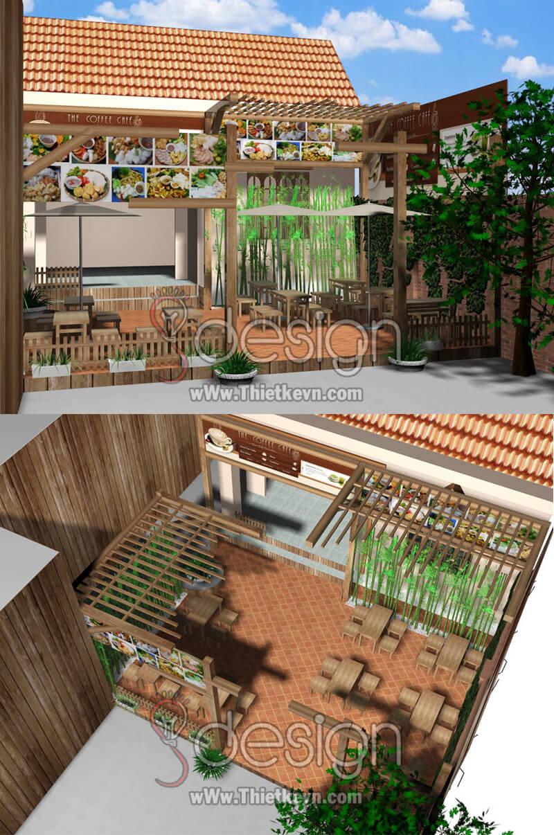 Mẫu thiết kế quán ăn vặt 01