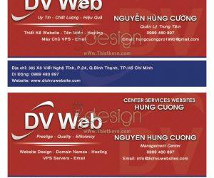 Chuyên thiết kế name card và in card visit 03
