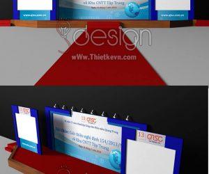 Thiết kế sân khấu hội nghị 01