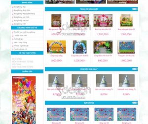 Thiết kế website bong bóng giá rẻ