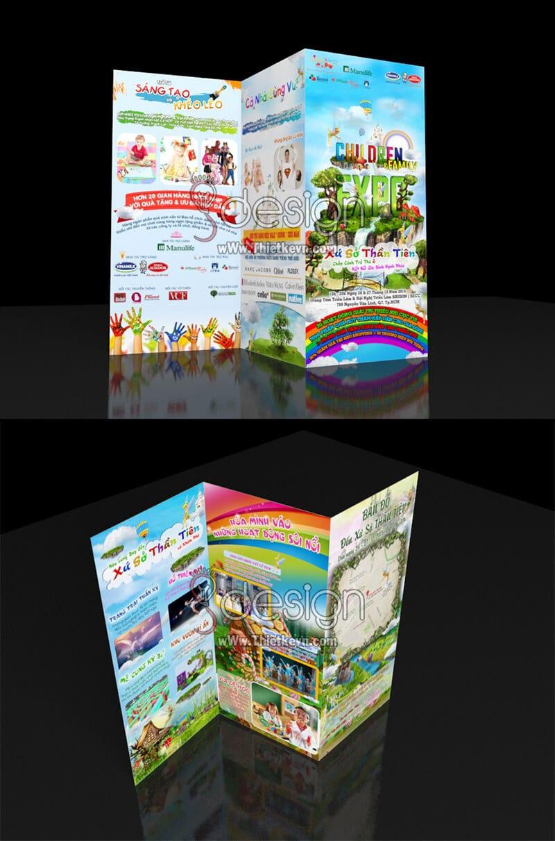 Thiết kế tờ gấp cho Children Family Expro 2015