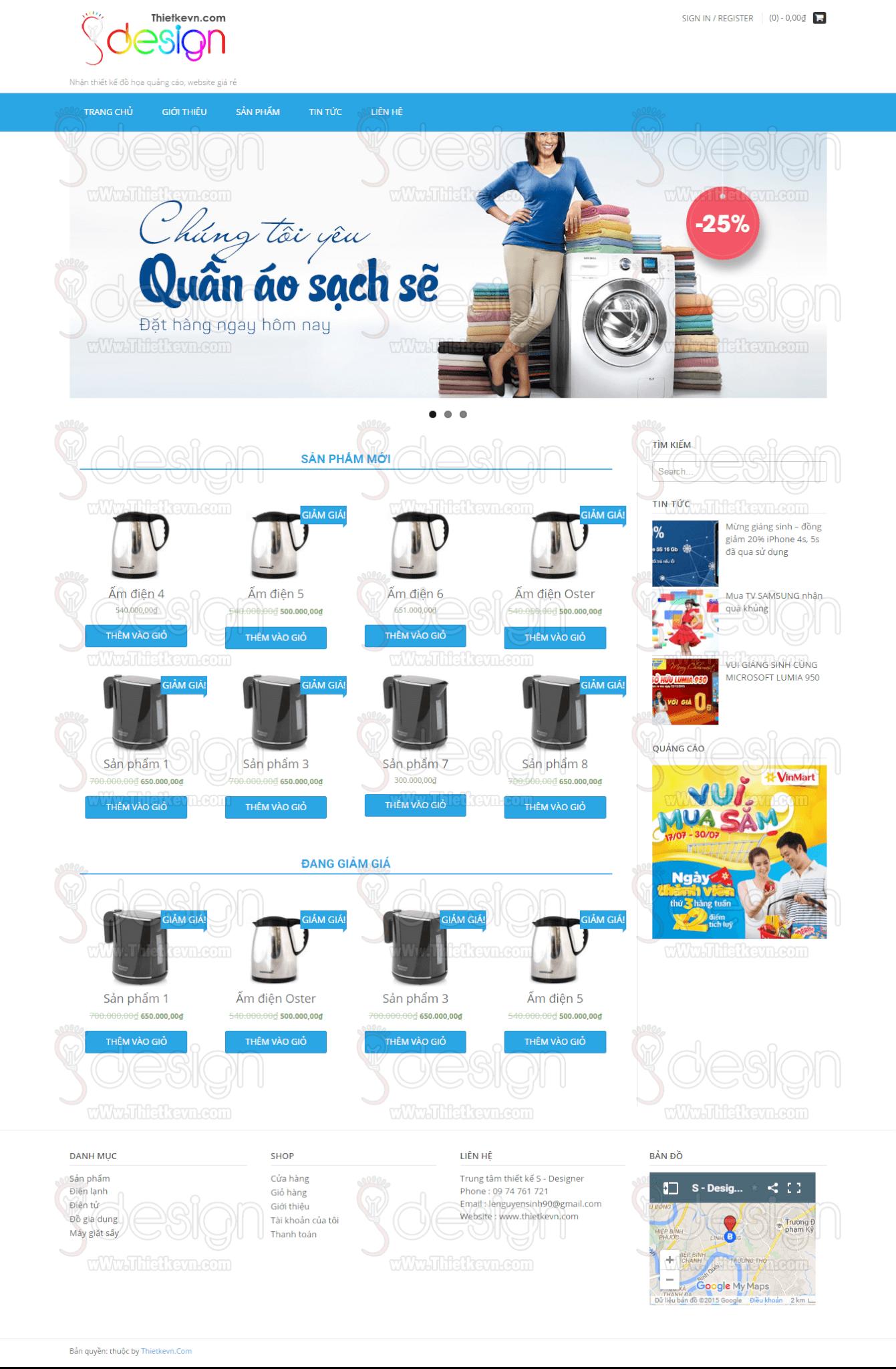 Nơi thiết kế website bán hàng giá rẻ tại HCM