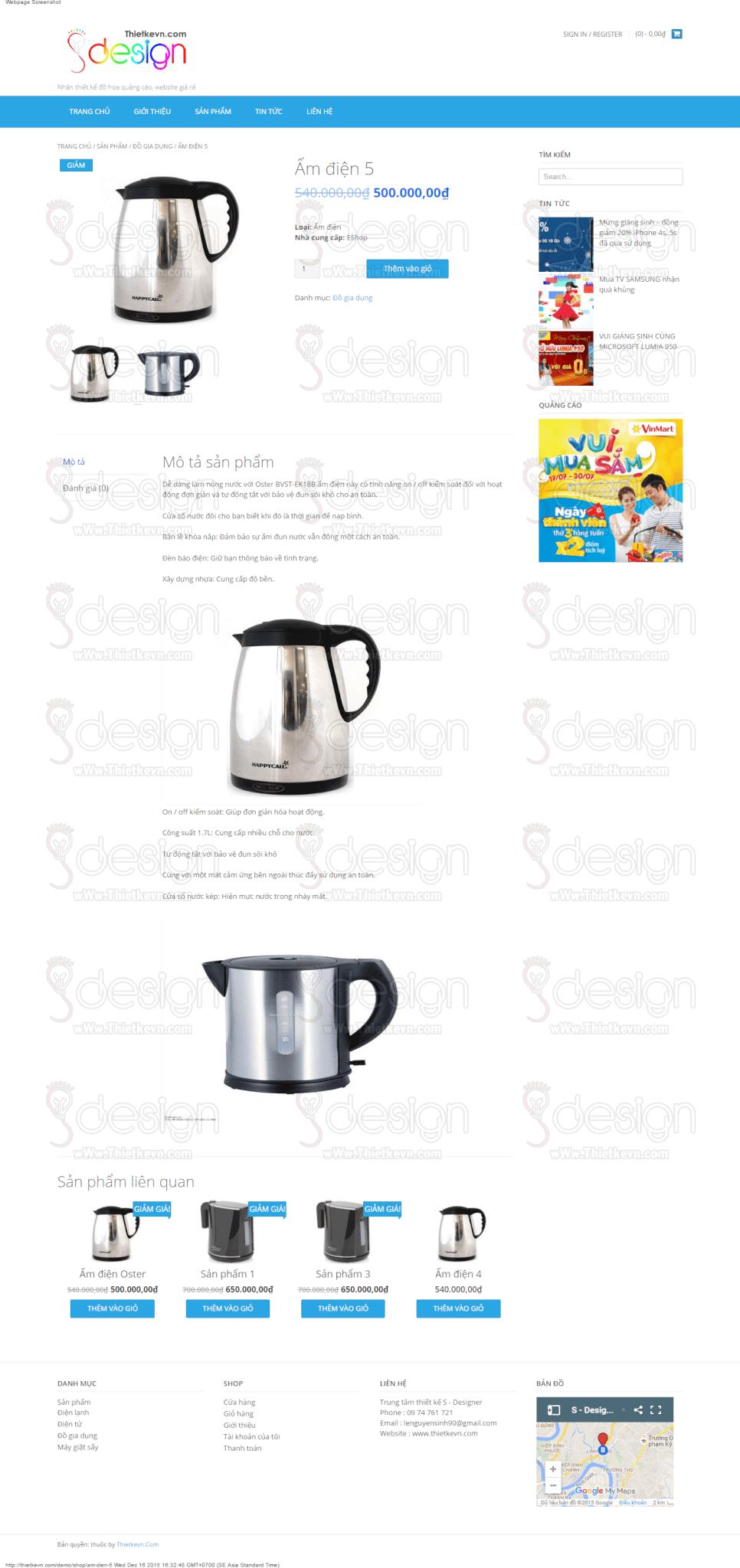 thiết kế website shop giá rẻ
