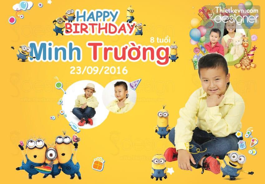 thiết kế banner sinh nhật cho bé
