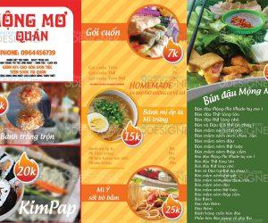 Thiết kế Menu quán ăn uống chuyên nghiệp giá rẻ tại HCM, HN, Cần thơ