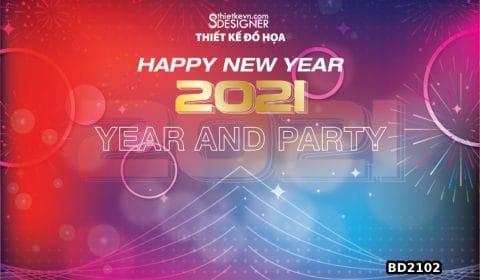 backdrop party cuoi nam Thiết kế Backdrop tất niên 2021, phông nền tết