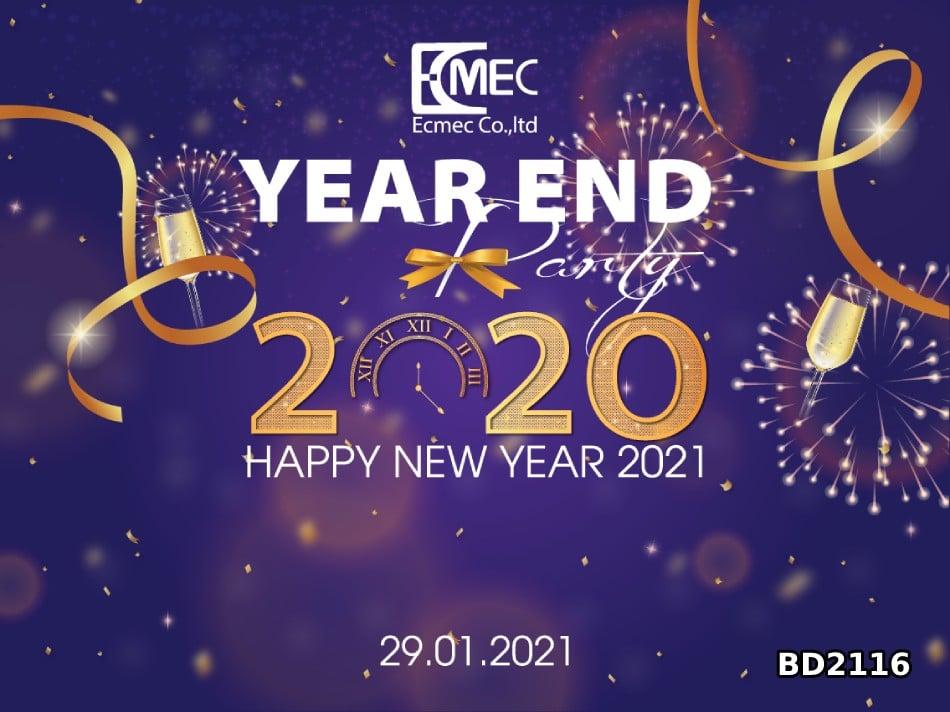 backdrop year and party dep Thiết kế Backdrop tất niên 2021, phông nền tết