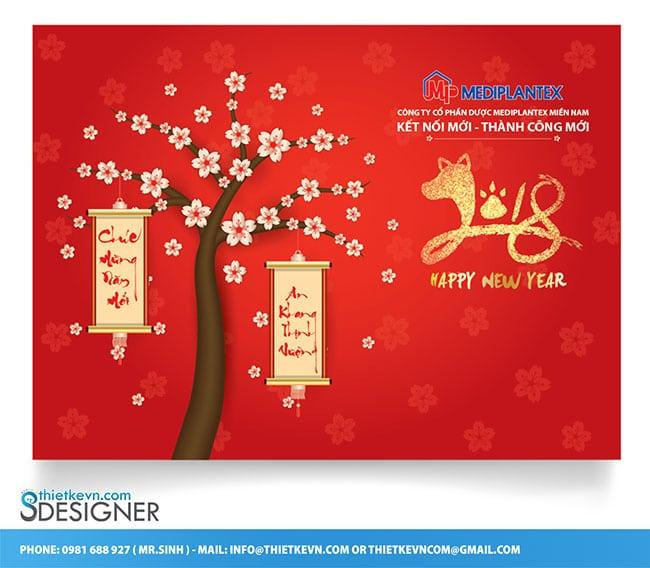 Thiết kế backdrop công ty dược