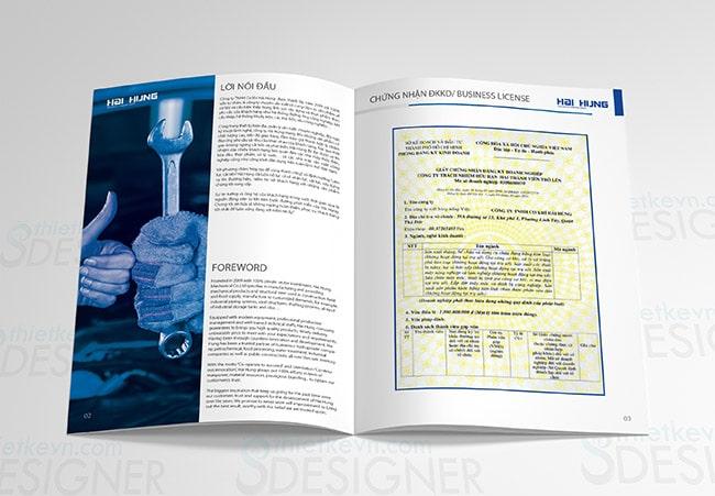 thiet ke catalogue tphcm Thiết kế Catalogue giá rẻ công ty cơ khí tại TPHCM, Hà Nội
