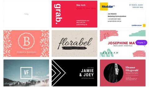 mau card visit dep 01 Thiết kế card visit online, in card visit giá rẻ công ty