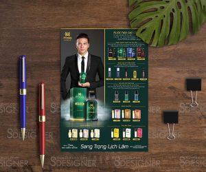 Thiết kế catalogue mỹ phẩm kiểu tờ rơi quảng cáo đẹp SỐ 1
