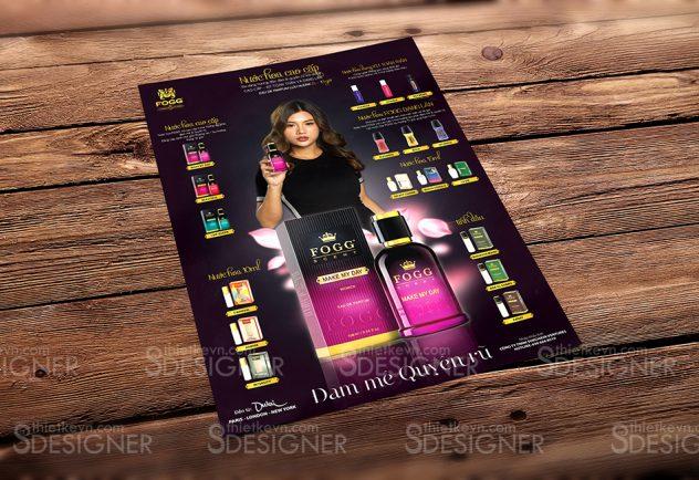 thiet ke to roi quang cao Thiết kế catalogue mỹ phẩm kiểu tờ rơi quảng cáo đẹp SỐ 1
