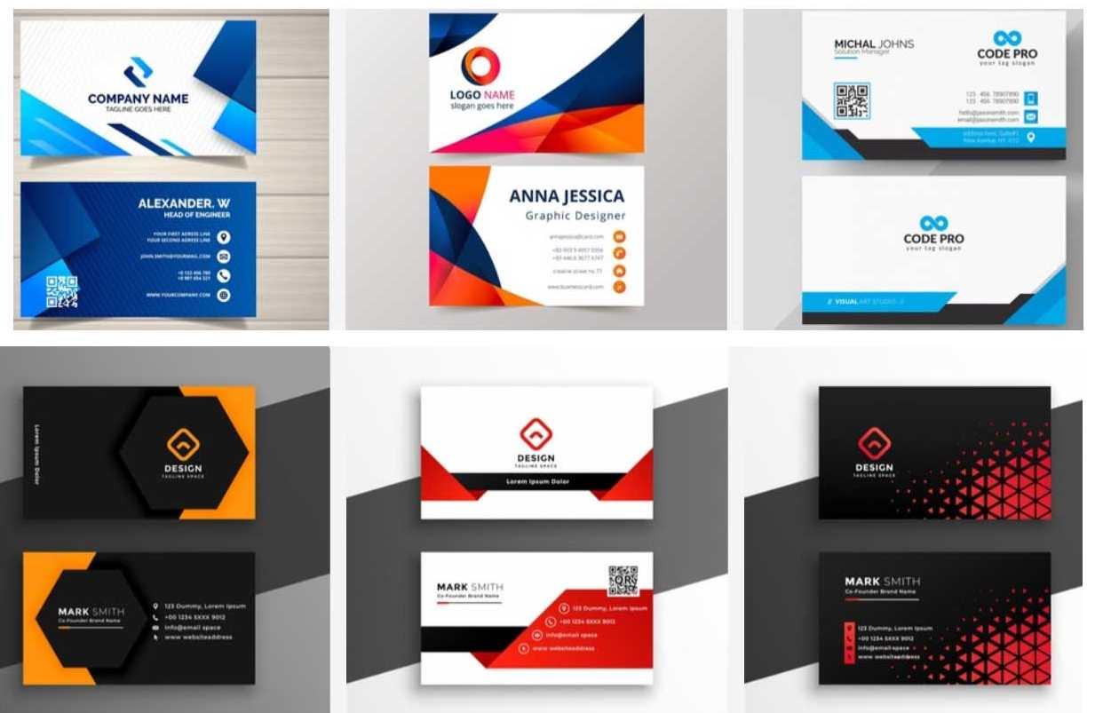 69+ Mẫu name card đẹp của dịch vụ thiết kế card visit online