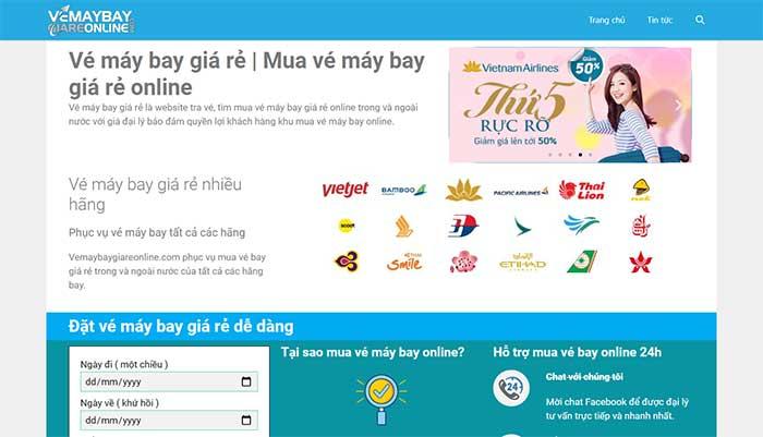 Thiết kế website bán vé máy bay bằng wordpress [2 triệu]