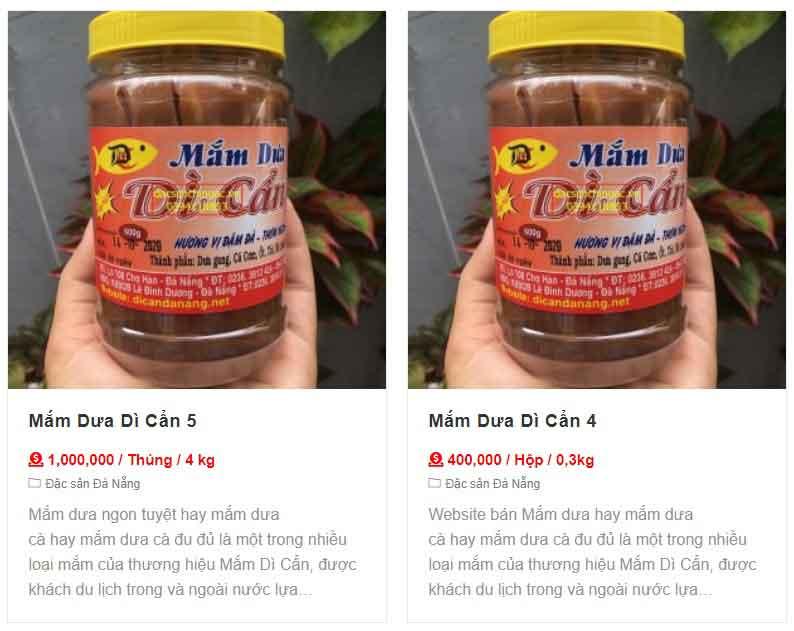 hiển thị giá sản phẩm