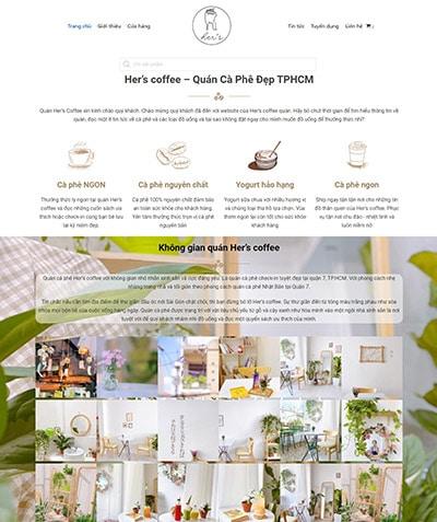 hers coffee Thiết kế website Quảng Ngãi chuẩn SEO Google