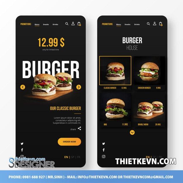thiết kế menu tiệm bánh